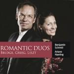 Das gemeinsame Album von Ariane Haering und Benjamin Schmid mit Werken von Brdige, Grieg und Lizt entstand im Hallmühle Tonstudio.